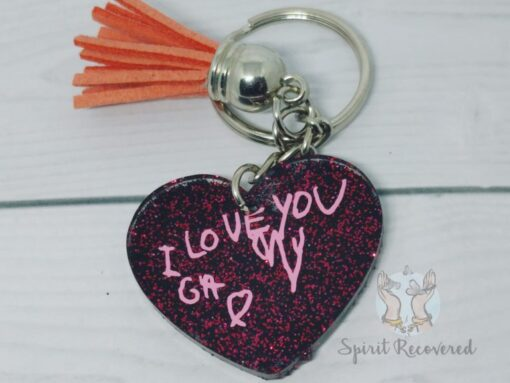 custom handwriting keychain